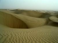 An ocean of sand. Taklamakan Desert.