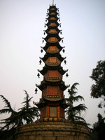 A wonderful tower complete with chiming bells at Wuhou Temple, Chengdu, Sichuan.