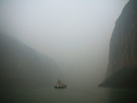 Finally entering the Three Gorges.