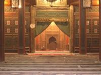 A peek inside the prayer hall. Parts of the mosque date back more than 1,200 years.