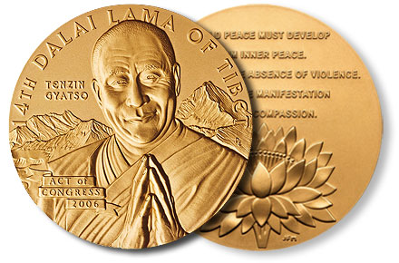 The Dalai Lama's Congressional Gold Medal.