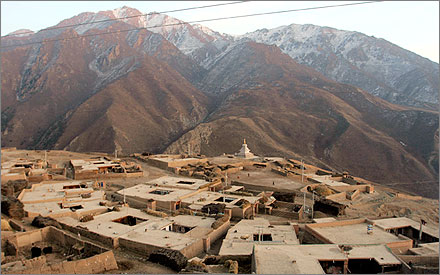 A small Tibetan village in Qinghai where I'll be teaching English for a month.