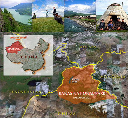 Xinjiang's new Kanas National Park, the biggest in the world.