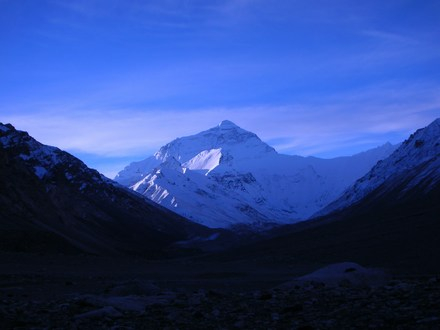 Mt. Everest at dawn on September 29, 2006.