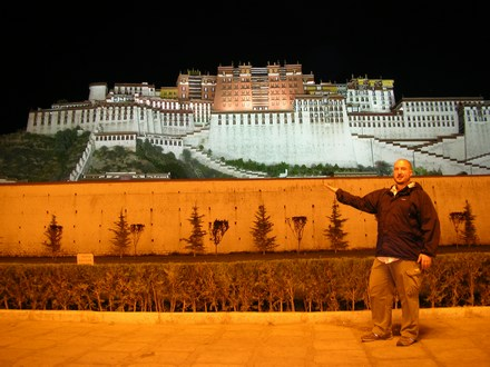 Me, in front of the Potala Palace in Lhasa, Tibet.