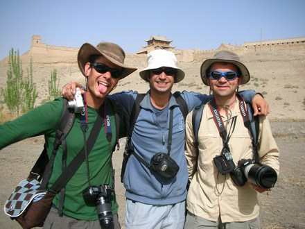 My northwest China travel buddies, from left to right: Nir, Gal, and Mirek.