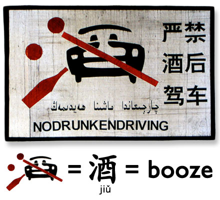 Chinese 'No Drunken Driving' sign.