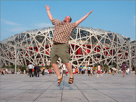 The Bird's Nest, Beijing, August 18, 2008.