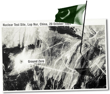 China let Pakistan test a nuclear weapon in Xinjiang on May 26, 1990.