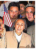 Rebiya Kadeer, upon arrival at Washington's Reagan International Airport in 2005 after her expulsion from China.