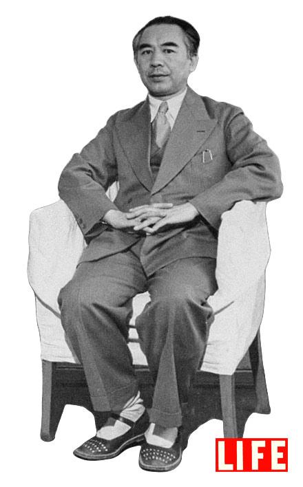 Xinjiang's warlord/governor Sheng Shicai, 1943, in Dihua (now Urumqi).