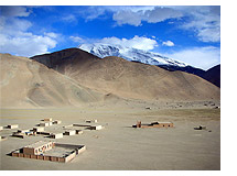The small village of Subaxcun lies beside Lake Karakul and